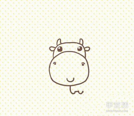 卡通奶牛简笔画的画法 可爱奶牛简笔画图片-卡通海豹简笔画的画法步