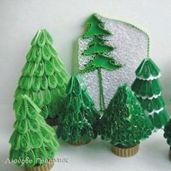 衍纸立体圣诞树的做法 立体圣诞树衍纸制作