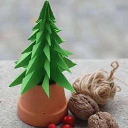 立体圣诞树怎么做 立体圣诞树折纸制作图
