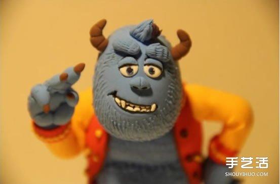 粘土怪兽diy图解教程 搞笑软陶怪兽手工制作