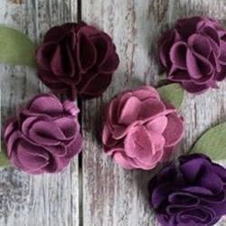 毛毡布花发夹手工制作 毛毡布艺花朵胸花DIY