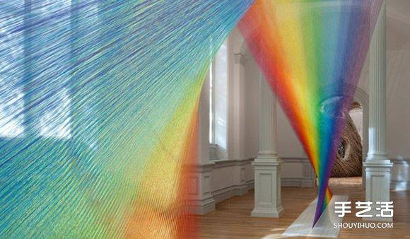 玩美视觉游戏!利用丝线DIY永不消失的彩虹