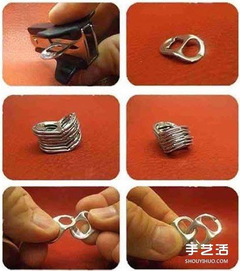 易拉罐拉環包包手工製作 拉環DIY包包的教程