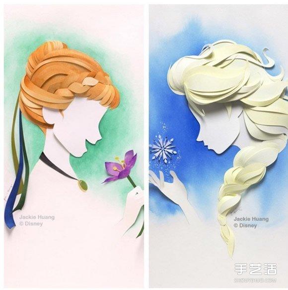纸雕艺术:利用剪纸加拼贴制作可爱的卡通图案