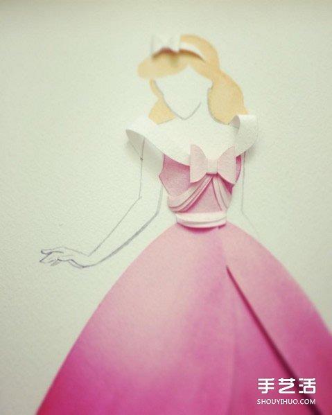纸雕艺术:利用剪纸加拼贴制作可爱的卡通图案 -  www.shouyihuo.com