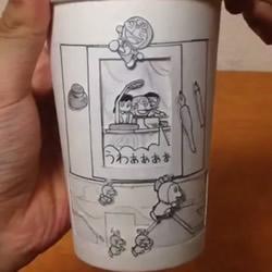 纸杯DIY超牛动画 跟着大雄一起搭上时光机吧