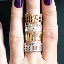 纯手工制作戒指 一手掌握世界各地的建筑之美