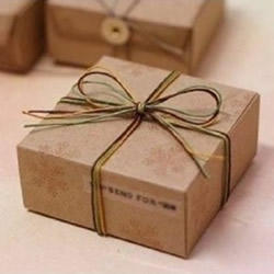 常用礼物包装盒的折法制作图解 带展开图