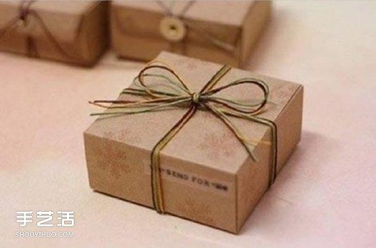 常用礼物包装盒的折法制作图解 带展开图哦