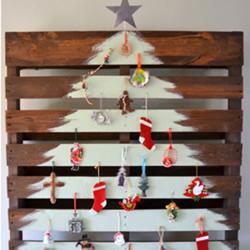 5种木头圣诞树制作图片 自制圣诞树用木