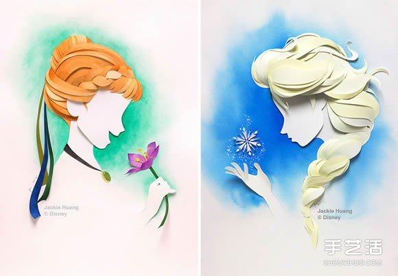 梦幻纸雕作品 让迪士尼人物从书本上活了起来