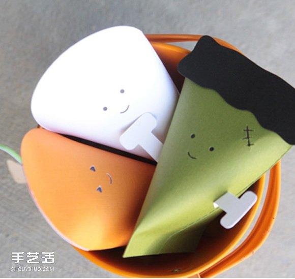 简单卡纸包装盒手工制作 造型是可爱的胡萝卜