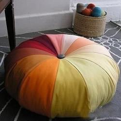 自制南瓜坐垫的方法 南瓜坐垫布艺手工制作