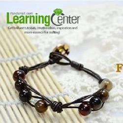 复古简约珠串DIY教程 大气串珠手链的编法