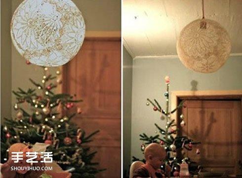 自制蕾丝灯罩的方法 浪漫蕾丝灯罩手工制作