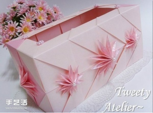 餐巾纸盒DIY制作教程 漂亮抽纸盒的折法图解