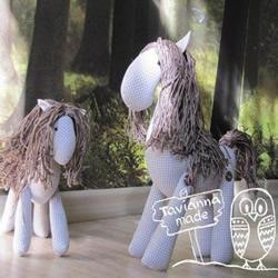 布艺马手工制作带图纸 毛绒玩具马DIY图解