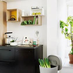 厨房有型又整齐:开放式厨房层架的摆设