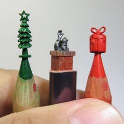 世界之最!0.5毫米的铅笔芯笔尖雕刻艺术