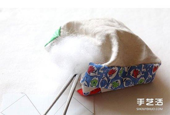 拼布针插的做法步骤图 拼布制作针插的方法 -  www.shouyihuo.com