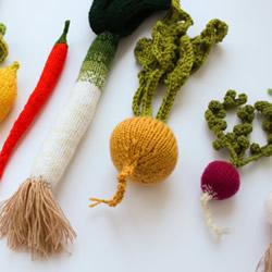 毛线编织的蔬菜水果作品 卖得比新鲜的贵