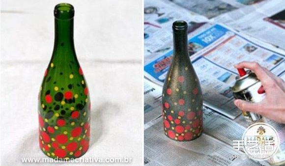 啤酒瓶废物利用diy手工制作精美烛台的方法