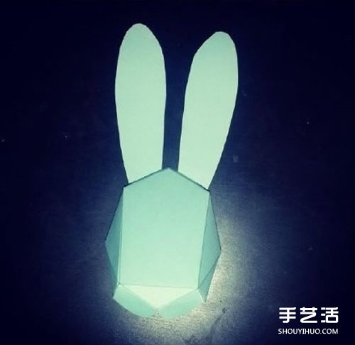 折纸立体兔头的方法 立体兔子的头的折法图解 - www.shouyihuo.com