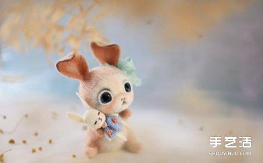 精致羊毛毡小动物作品图片 融化人心的萌样