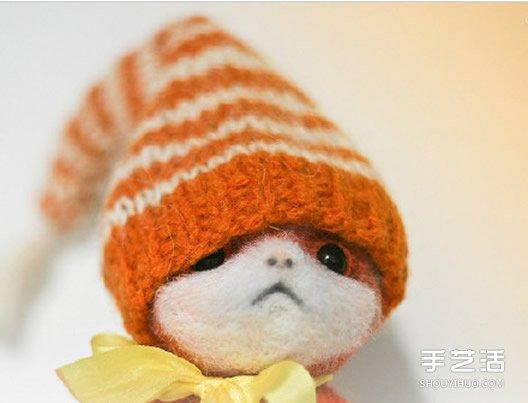 精致羊毛毡小动物作品图片