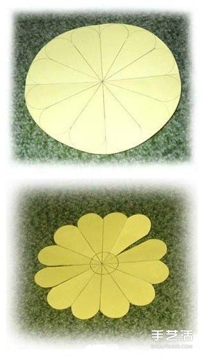 纸花的做法图解教程 手工纸花朵制作方法