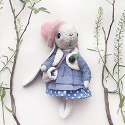 各种卖萌的手工布艺兔宝宝作品图片