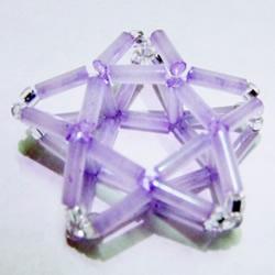 串珠立体五角星的制作方法 可用作装饰小