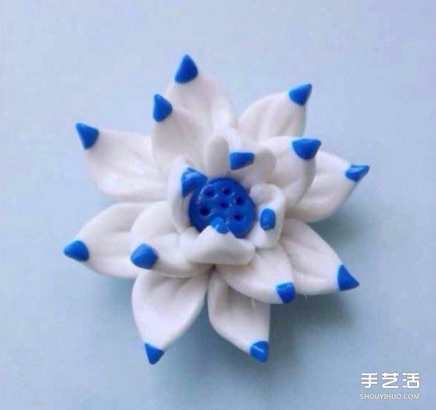 超轻粘土莲花DIY教程 用粘土制作莲花的过程图片