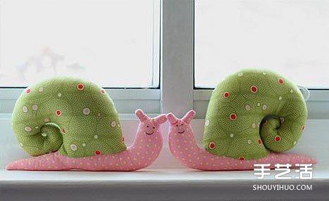 不织布蜗牛diy教程 布艺蜗牛玩具手工制作图解