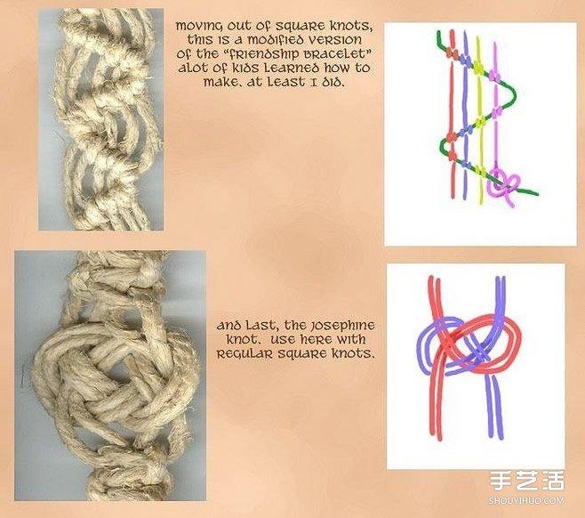 ... 女风的麻绳手链的编法 麻绳编织手链图解_手艺活网