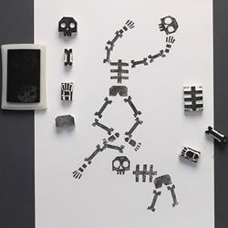可以任意组合的骷髅小人橡皮章DIY图解教程