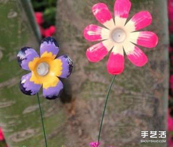 幼儿园花朵制作方法 矿泉水瓶做花朵的步骤图
