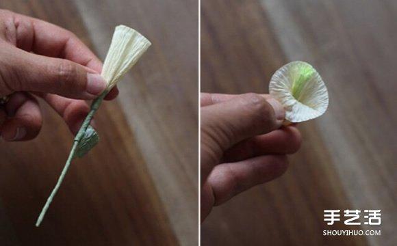 铃铛花的折法图解 皱纹纸制作铃铛花的方法图片