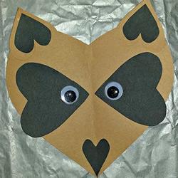 幼儿园小朋友剪纸制作可爱狐狸头的方法