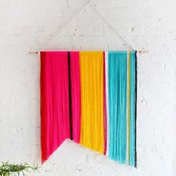 简单易学的家居多彩旗帜挂饰DIY手工制作