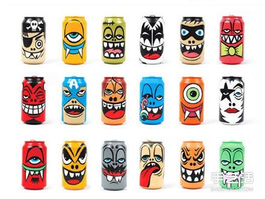 易拉罐手绘图片 创意让易拉罐变身手工艺品 - www.shougong.com