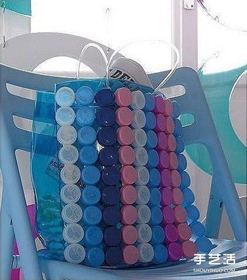 瓶盖废物利用手工图 塑料瓶盖手工制作图片