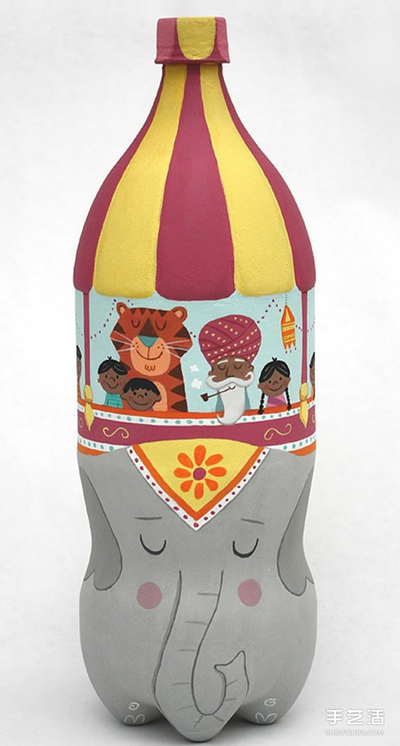 卡通瓶子手繪圖片 小小創意讓瓶子變廢為寶