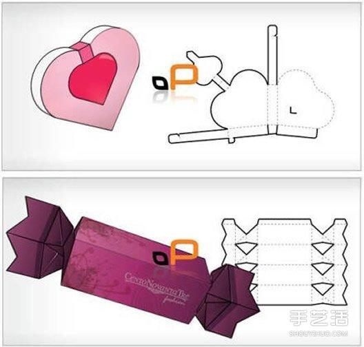 种手工折纸包装纸盒的折法带打印图纸