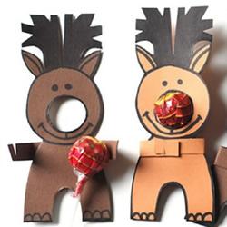 幼儿麋鹿手工制作教程 简单可站立麋鹿的做法