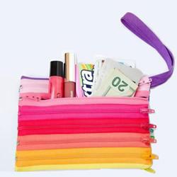 手拿拉链包零钱包DIY制作教程 材料全部是拉链