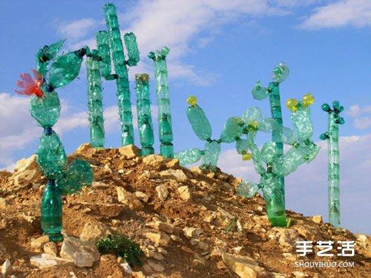 舊塑料瓶手工製作 仙人掌、蝙蝠、蝴蝶、企鵝~