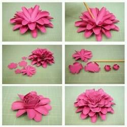 8种美丽纸花的制作过程 立体纸花的做法