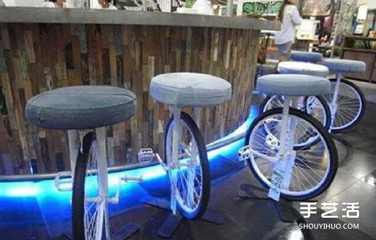 废旧自行车改造小制作 自行车废物利用创意