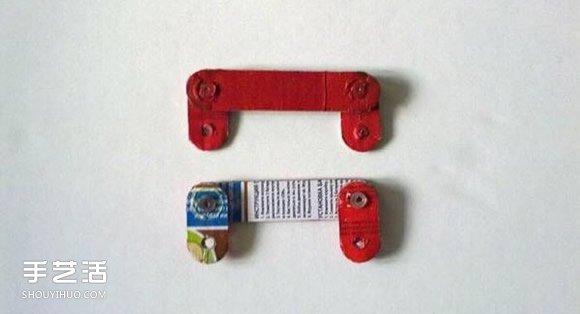 硬纸板手工制作火车模型的方法图解教程 - www.shouyihuo.com